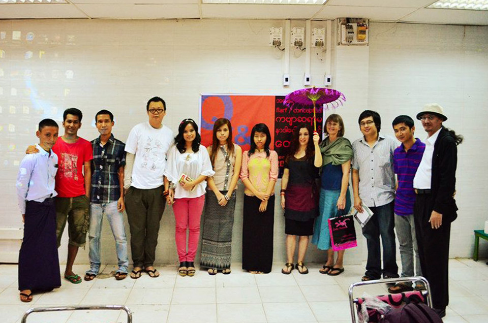 Nada Gordon's Poetry Workshop - Yangon, 2012