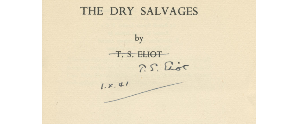 The Dry Salvages by T. S. Eliot